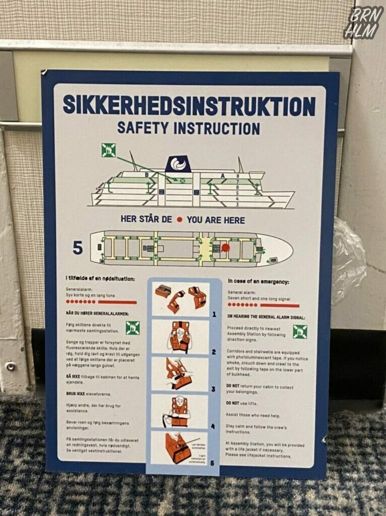 Sikkerhedsinstruktion på Poul Anker - December 2020