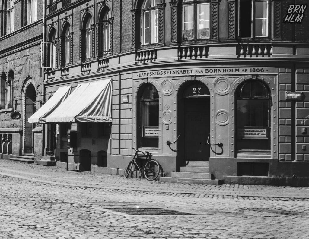 Damskibsselskabet paa Bornholm af 1866's kontor i København - Ca 1900