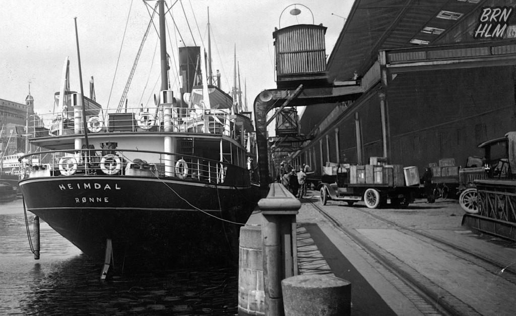 1866 bådenes Heimdal losses i Københavns Havn - Ca 1920