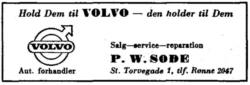 P. W. Sode - Volvo - 1967
