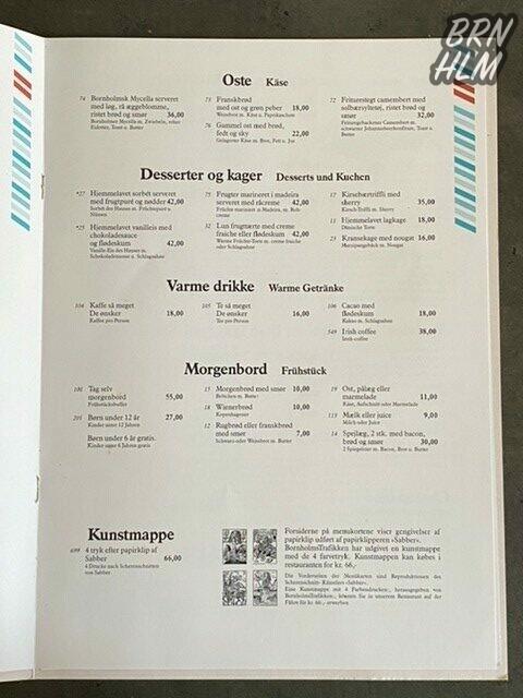 Bornholmstrafikkens Menu & Vine - 1991