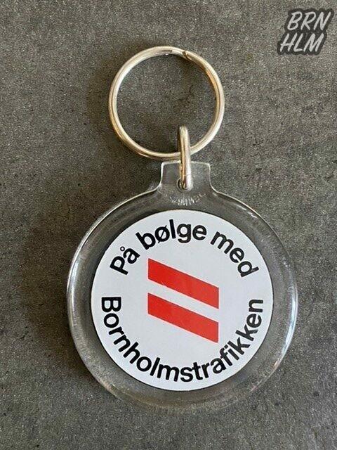 Bornholmstrafikkens reklame nøglering- 1991