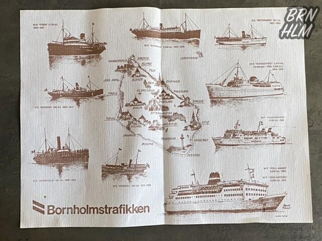 Bornholmstrafikkens dækkeservietter - 1991