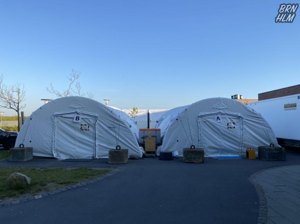 Corona test telte - Bornholms Hospital - 2020