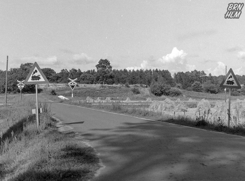 Jernbaneoverskæring nær Robbedale Trinbrædt - 1968