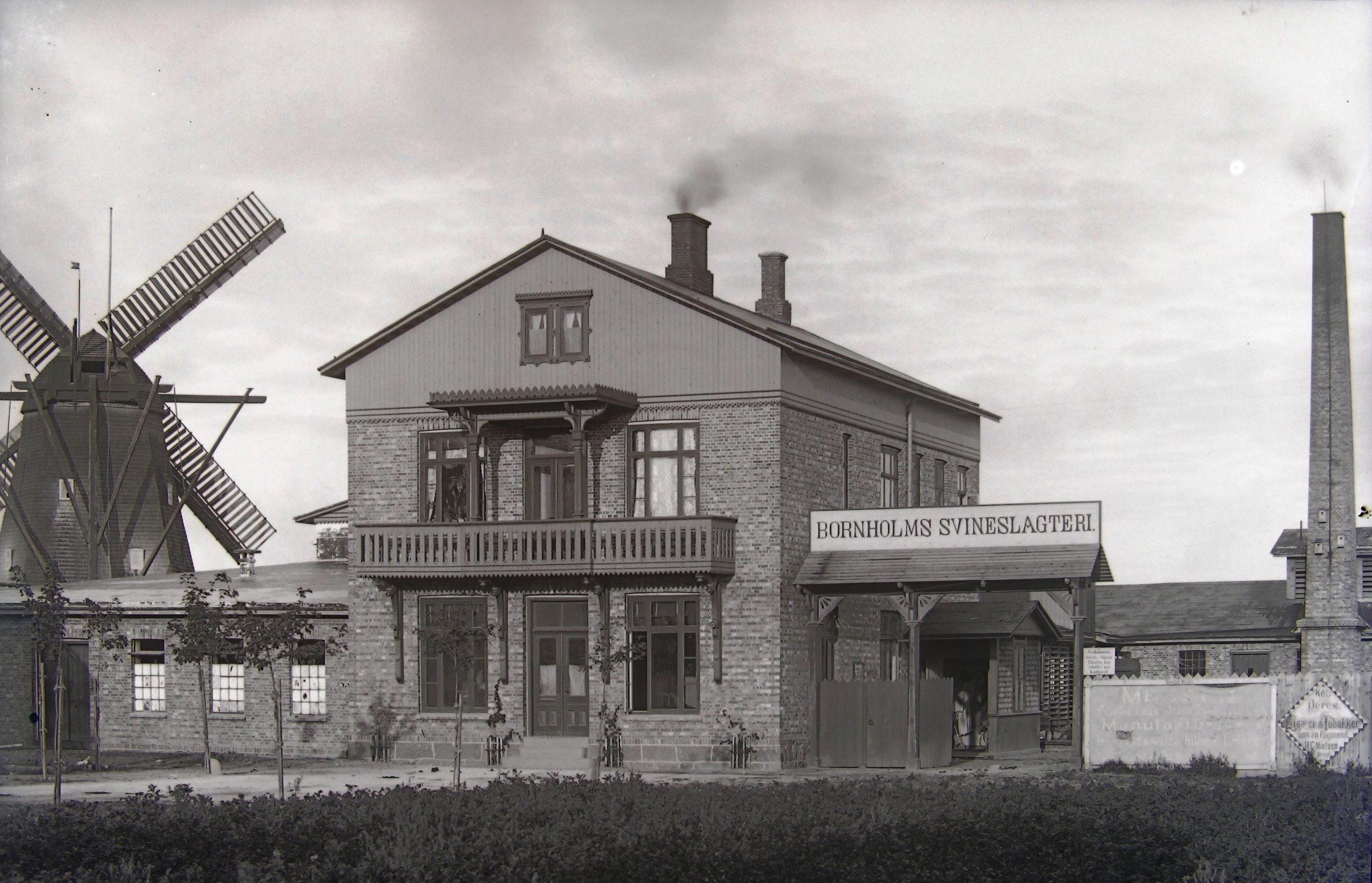 Bornholms Svineslagteri og Frydenlund Mølle - 1900