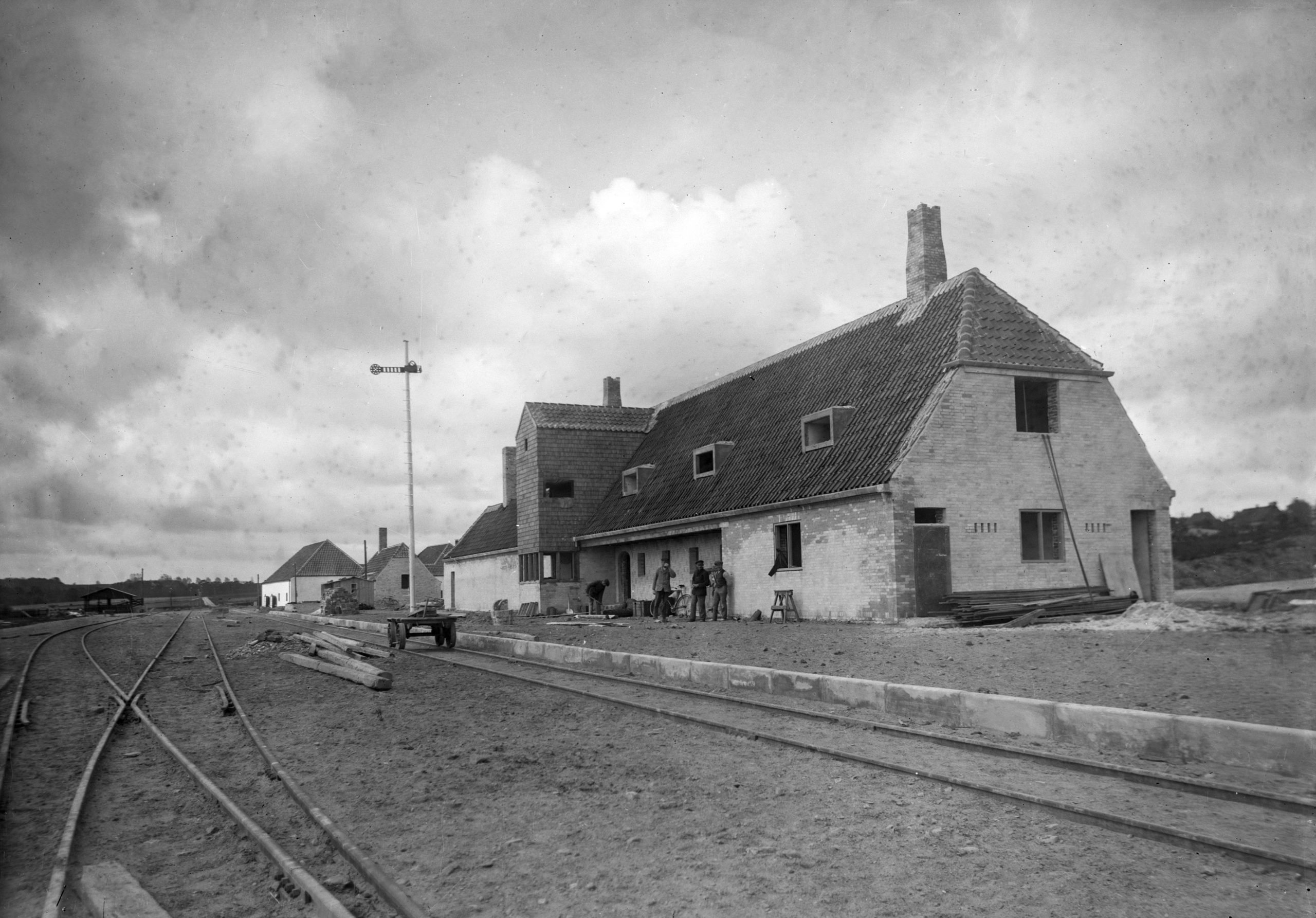 Gudhjem Station under opførsel - Juni 1916