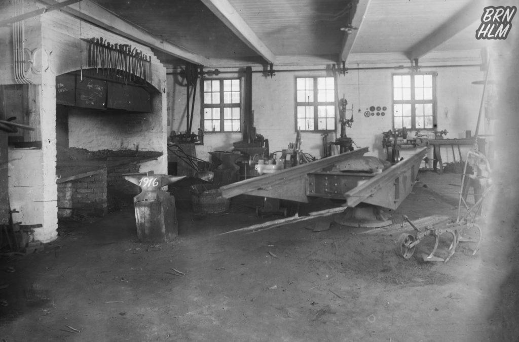 Nexø Maskinværksted fremstiller en drejeskive til De Bornholmske Jernbaner - 1916