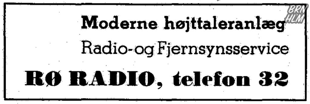 Reklame for Rø Radio