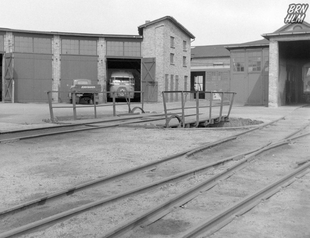 DBJ's remise og drejeskive - 1968