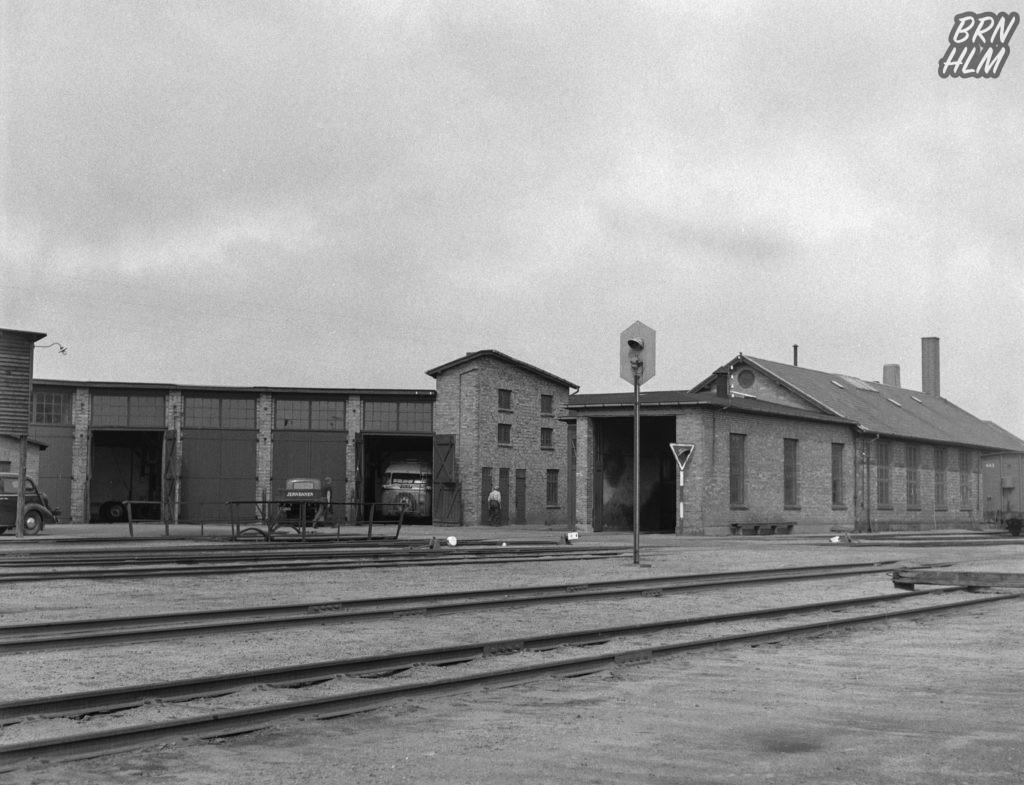 De Bornholmske Jernbaners remiser - Rønne - 1968