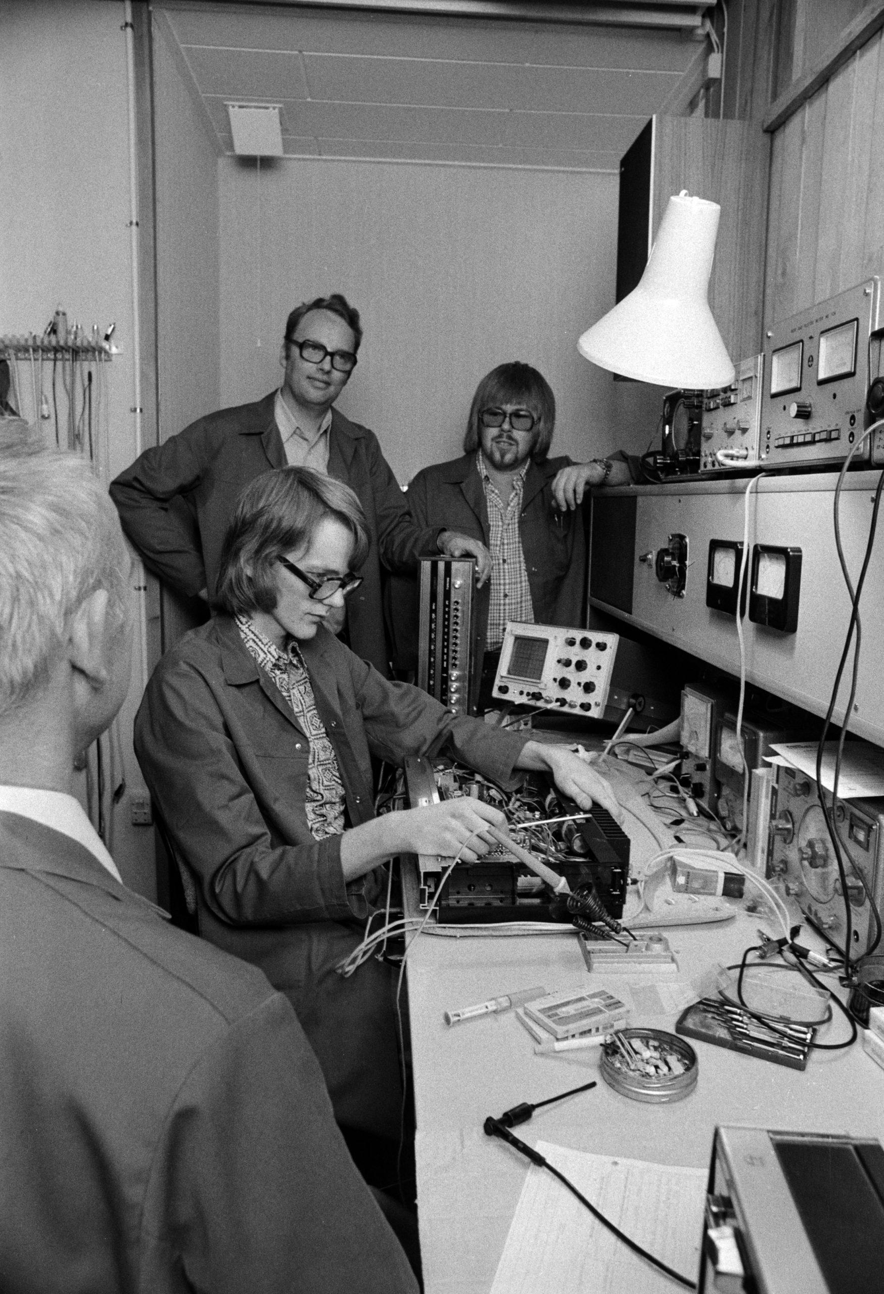 FONA Radios værksted i Store Torvegade - 1976