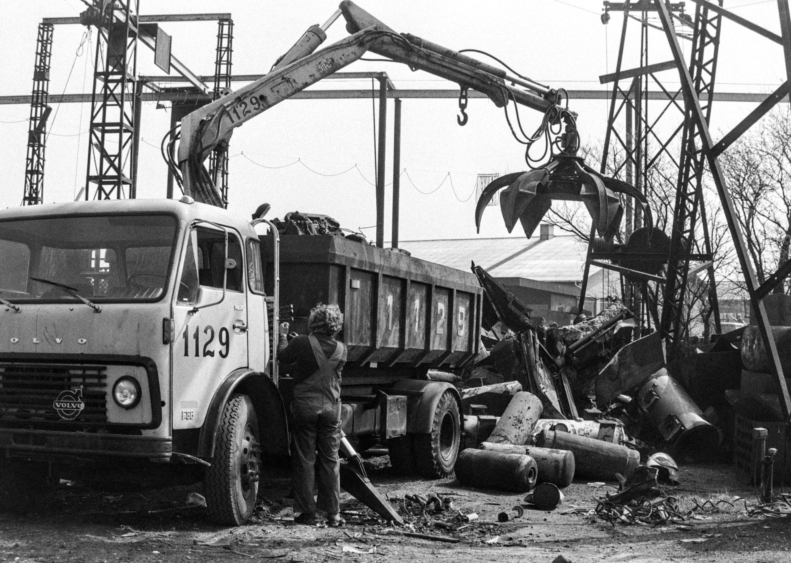 1129 - Bornholms Produkthandel - Aflæsning af skrotmetal - Ca 1980