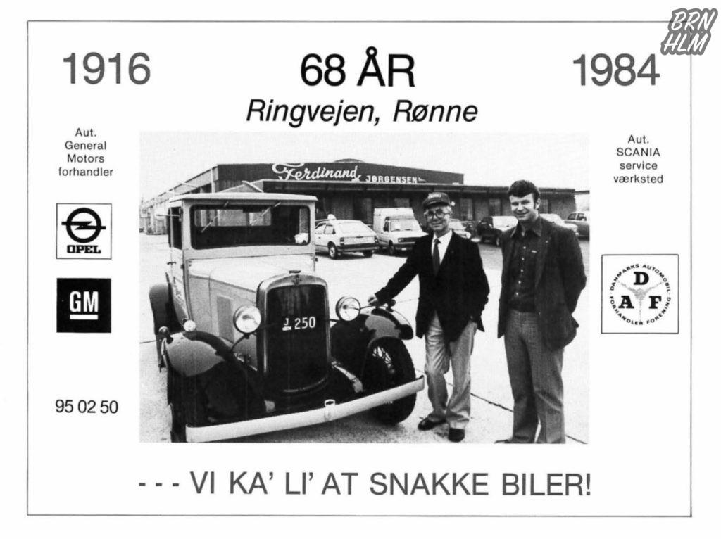 Ferdinand Jørgensen 68 år - Reklame 1984