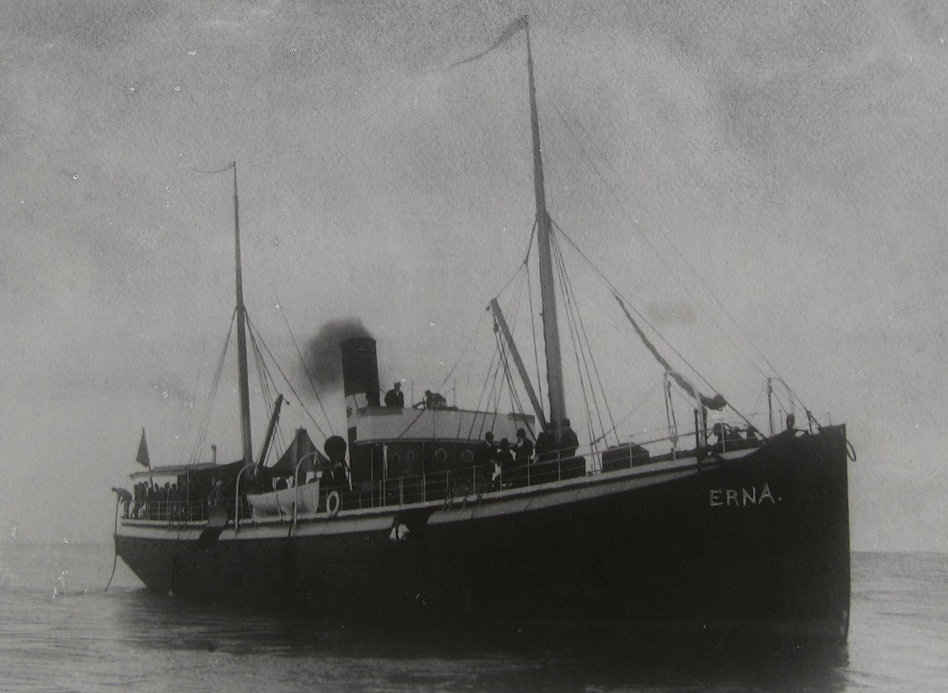 SS Erna - Det Østbornholmske Dampskibsselskabs første skib - ca. 1880