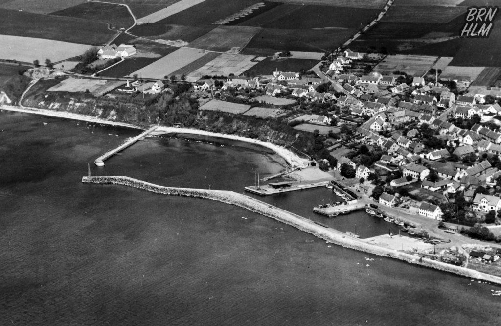 Hasle havn set fra luften - 1940