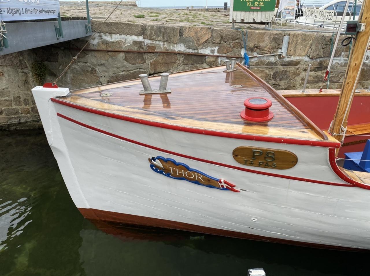 Det mere end 100 år gamle træskib og turbåd M/S Thor - 2020