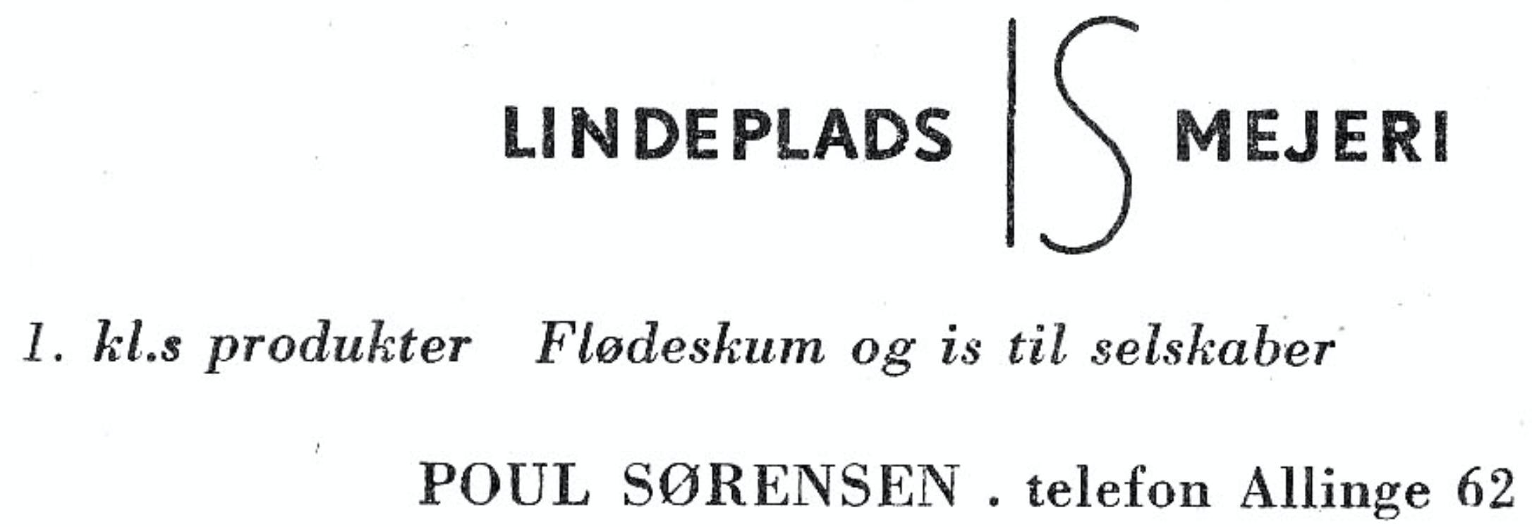 Lindeplads IS mejeri - 1958