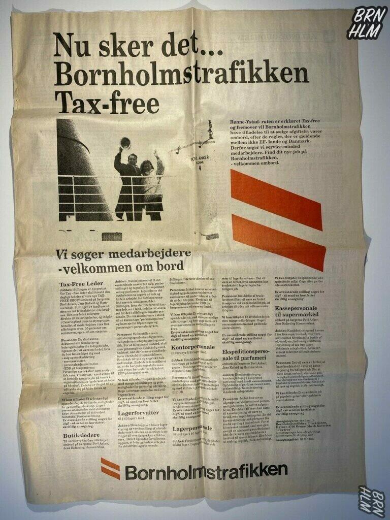 Bornholmstrafikken - Tax-free salg