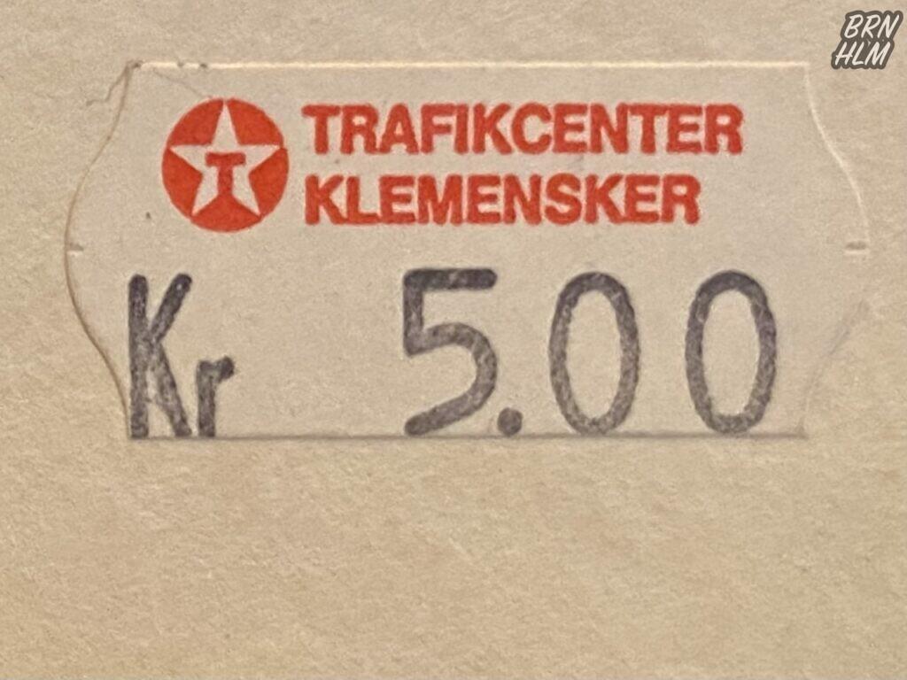Texaco Trafikcenter Klemensker - 1990'erne