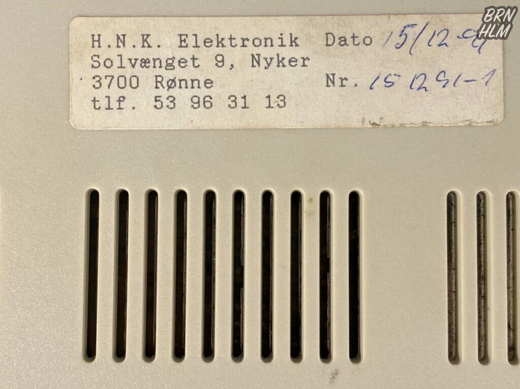 H.N.K. Elektronik i Nyker - 15. december 1991
