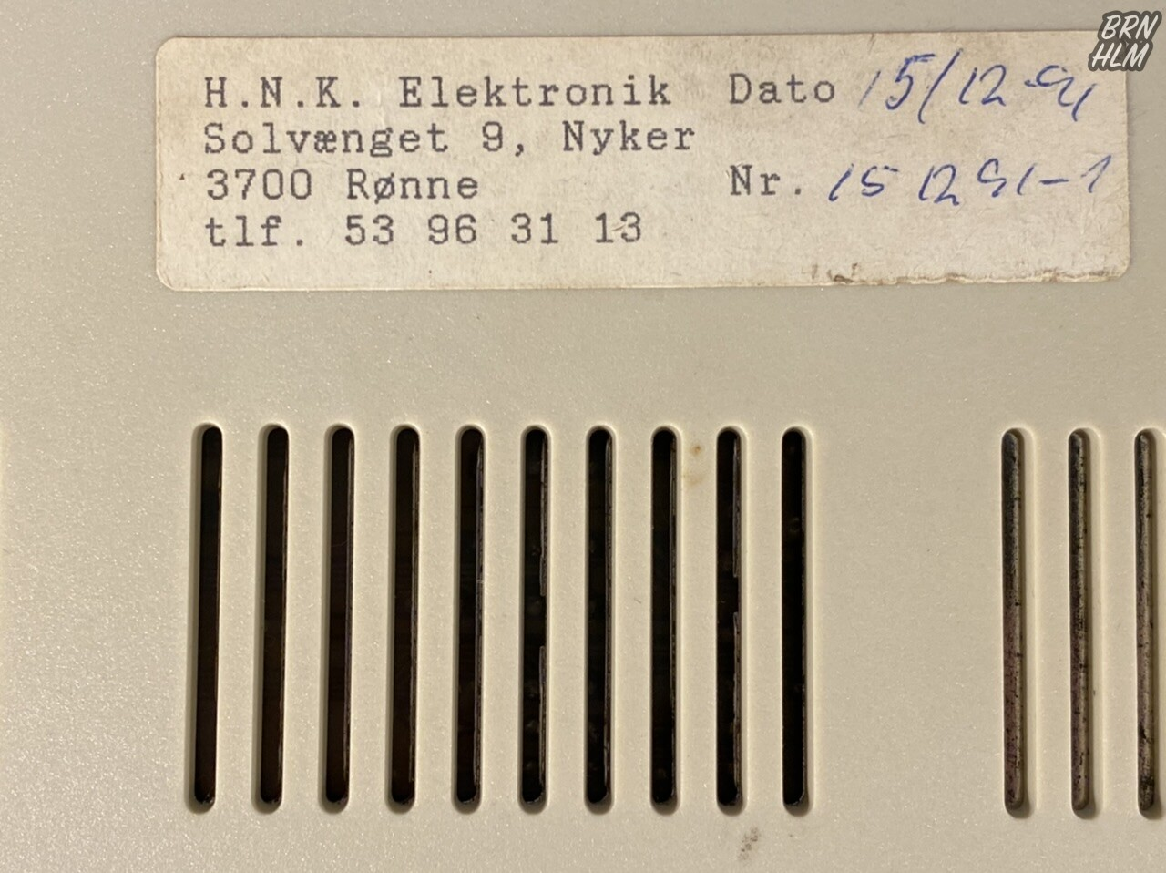 H.N.K. Elektronik i Nyker - 15. december 1991