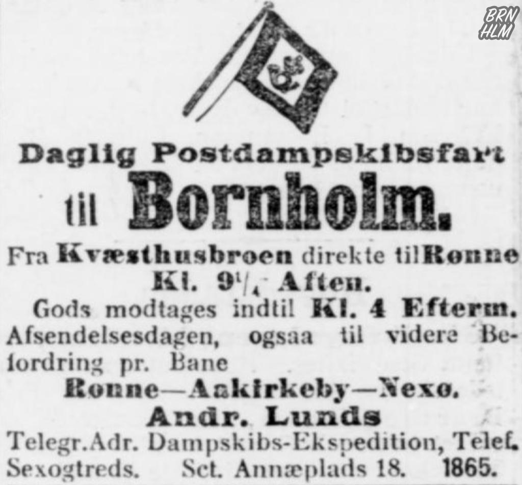 Dampskibsselskabet paa Bornholm af 1866 - Annonce 1908