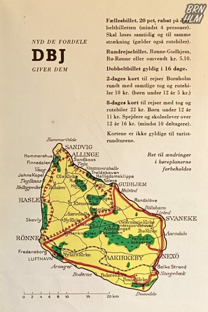 Bornholm Rundt med DBJ - De Bornholmske Jernbaner 1954